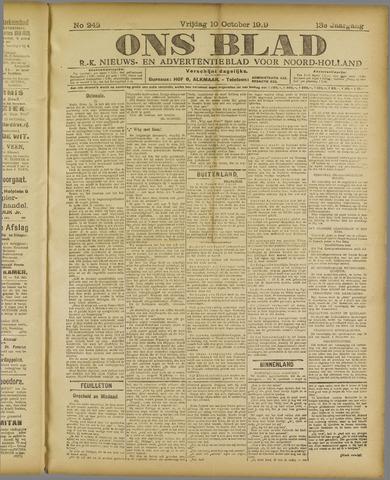 Ons Blad : katholiek nieuwsblad voor N-H 1919-10-10