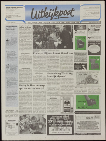 Uitkijkpost : nieuwsblad voor Heiloo e.o. 1999-11-24