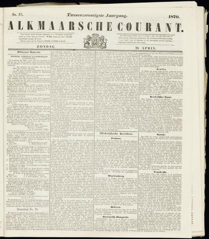 Alkmaarsche Courant 1870-04-24