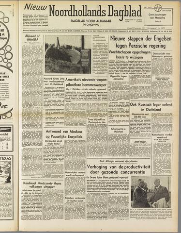 Nieuw Noordhollandsch Dagblad : voor Alkmaar en omgeving 1951-09-14