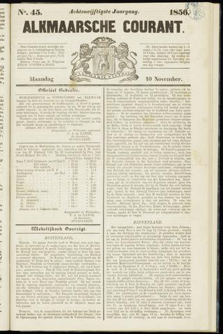 Alkmaarsche Courant 1856-11-10