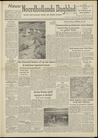 Nieuw Noordhollandsch Dagblad : voor Alkmaar en omgeving 1948-12-01