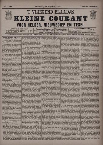 Vliegend blaadje : nieuws- en advertentiebode voor Den Helder 1884-08-13