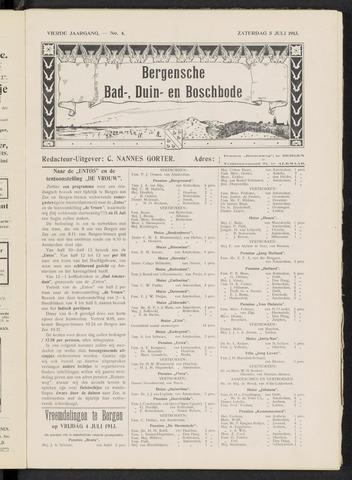 Bergensche bad-, duin- en boschbode 1913-07-05