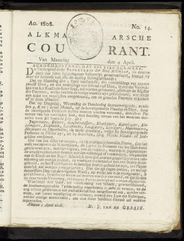 Alkmaarsche Courant 1808-04-04