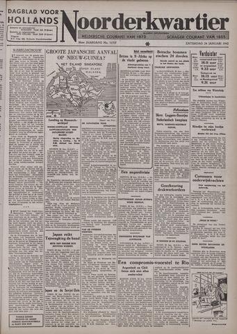 Dagblad voor Hollands Noorderkwartier 1942-01-24