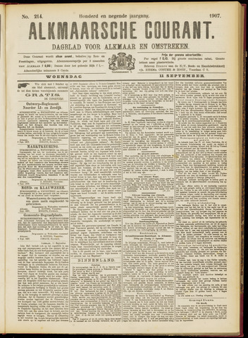 Alkmaarsche Courant 1907-09-11