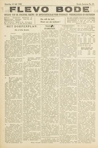 Flevo-bode: nieuwsblad voor Wieringen-Wieringermeer 1946-07-13