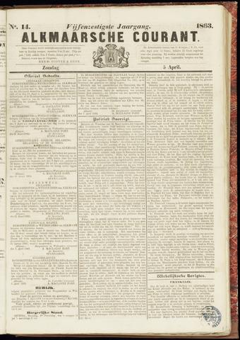Alkmaarsche Courant 1863-04-05
