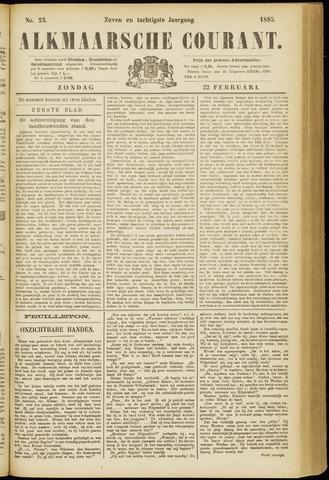 Alkmaarsche Courant 1885-02-22