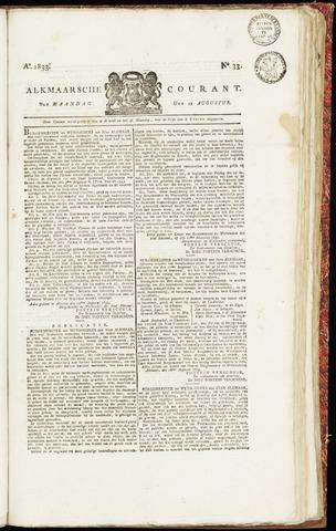 Alkmaarsche Courant 1833-08-19