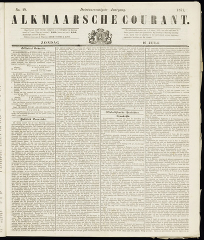Alkmaarsche Courant 1871-07-16