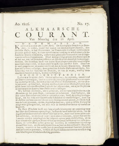 Alkmaarsche Courant 1806-04-28