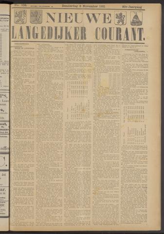 Nieuwe Langedijker Courant 1921-11-03