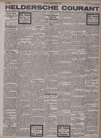 Heldersche Courant 1918-09-28