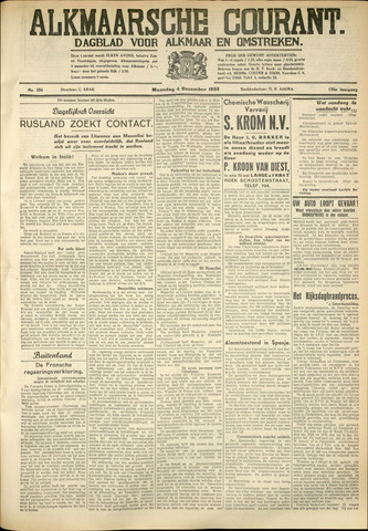 Alkmaarsche Courant 1933-12-04