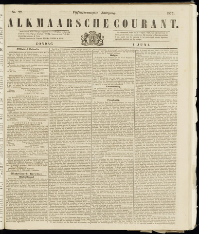 Alkmaarsche Courant 1873-06-01