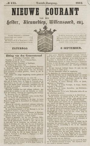 Nieuwe Courant van Den Helder 1862-09-06