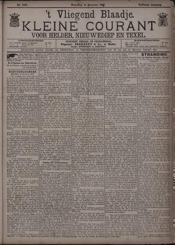 Vliegend blaadje : nieuws- en advertentiebode voor Den Helder 1887-12-14