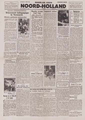 Dagblad Noord-Holland, Schager editie 1943-02-06