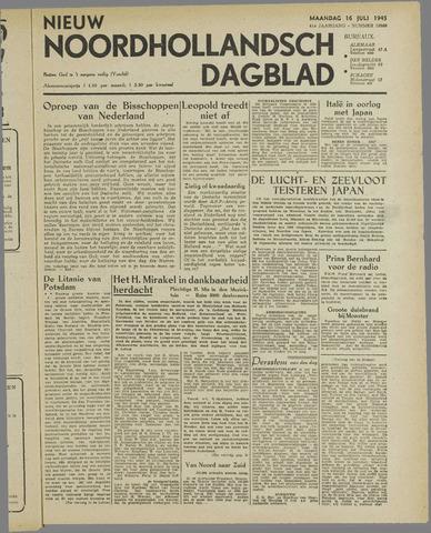 Nieuw Noordhollandsch Dagblad : voor Alkmaar en omgeving 1945-07-16