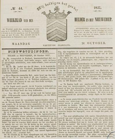 Weekblad van Den Helder en het Nieuwediep 1857-10-26