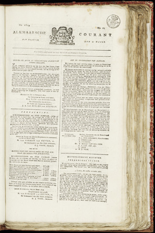 Alkmaarsche Courant 1819-03-22