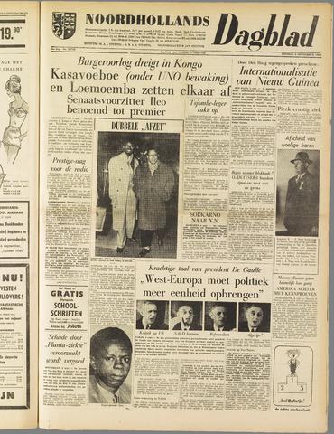 Noordhollands Dagblad : dagblad voor Alkmaar en omgeving 1960-09-06