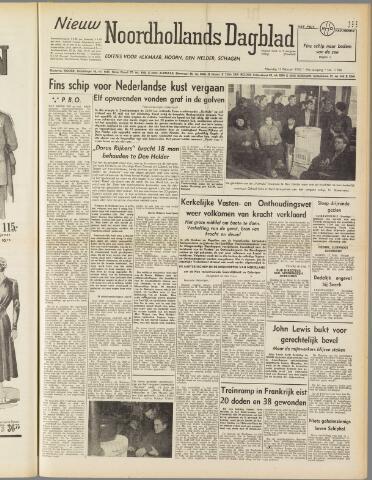 Nieuw Noordhollandsch Dagblad : voor Alkmaar en omgeving 1950-02-13