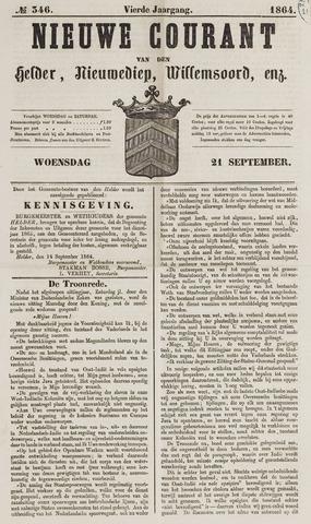 Nieuwe Courant van Den Helder 1864-09-21