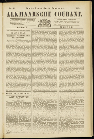 Alkmaarsche Courant 1889-03-31