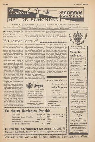 Contact met de Egmonden 1961-08-31