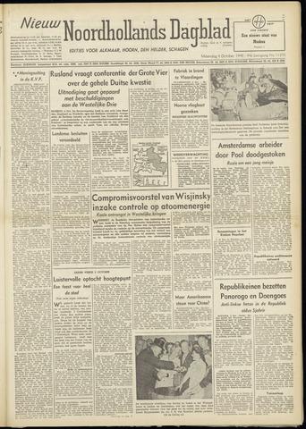 Nieuw Noordhollandsch Dagblad : voor Alkmaar en omgeving 1948-10-04