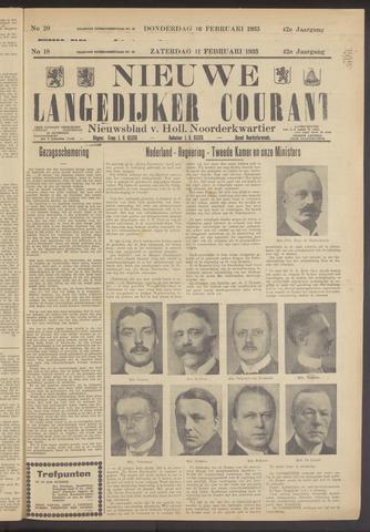 Nieuwe Langedijker Courant 1933-02-11