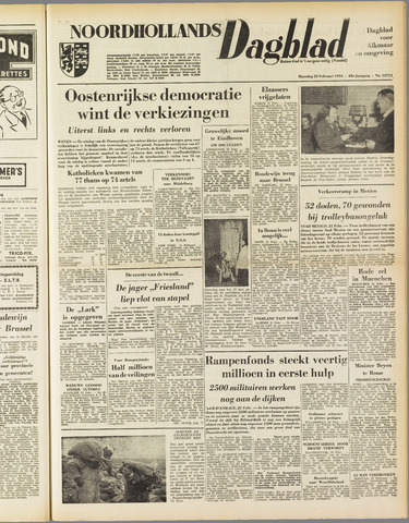 Noordhollands Dagblad : dagblad voor Alkmaar en omgeving 1953-02-23