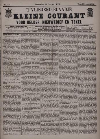 Vliegend blaadje : nieuws- en advertentiebode voor Den Helder 1884-02-13