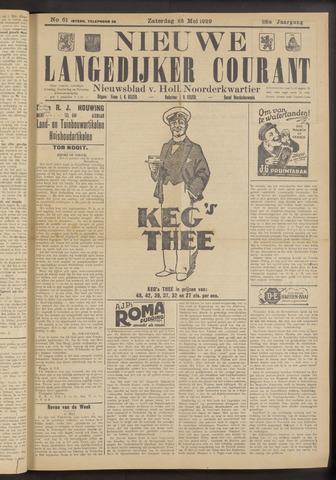 Nieuwe Langedijker Courant 1929-05-25