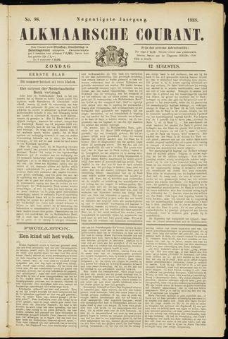 Alkmaarsche Courant 1888-08-12