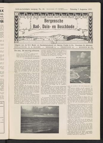 Bergensche bad-, duin- en boschbode 1937-08-07