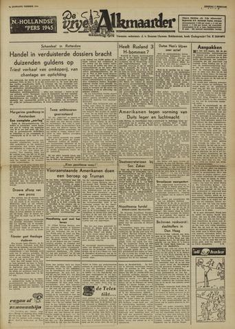De Vrije Alkmaarder 1950-02-07