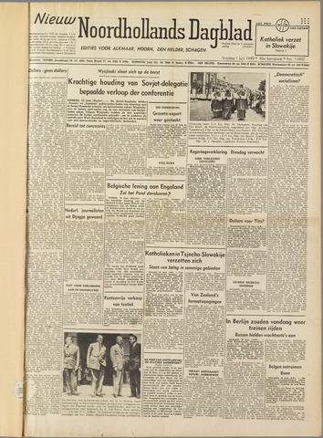Nieuw Noordhollandsch Dagblad : voor Alkmaar en omgeving 1949-07-01