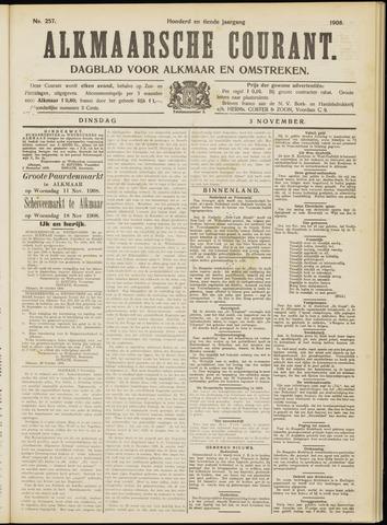 Alkmaarsche Courant 1908-11-03
