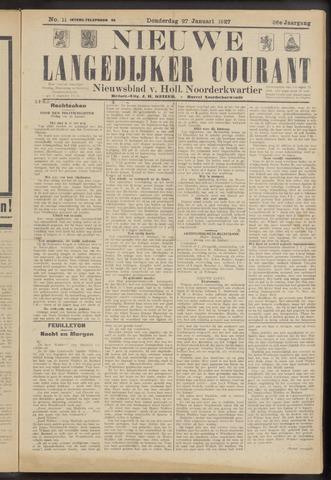 Nieuwe Langedijker Courant 1927-01-27