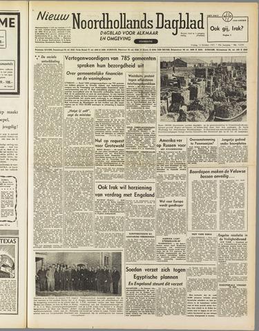 Nieuw Noordhollandsch Dagblad : voor Alkmaar en omgeving 1951-10-12