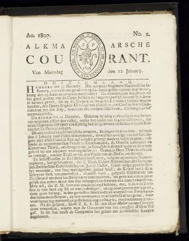 Alkmaarsche Courant 1807-01-12