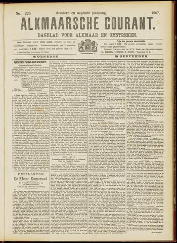 Alkmaarsche Courant 1907-09-18