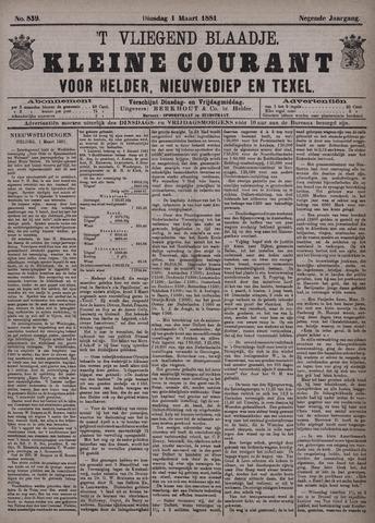 Vliegend blaadje : nieuws- en advertentiebode voor Den Helder 1881-03-01