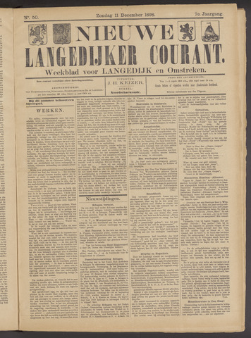 Nieuwe Langedijker Courant 1898-12-11