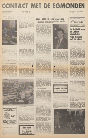 Contact met de Egmonden 1971-02-10