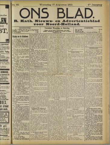 Ons Blad : katholiek nieuwsblad voor N-H 1910-08-17